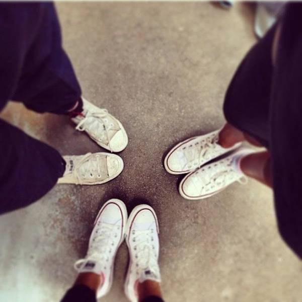 Jamaica Photograph - Our Shoes💕 #converse #gym #girls by Mae Simms