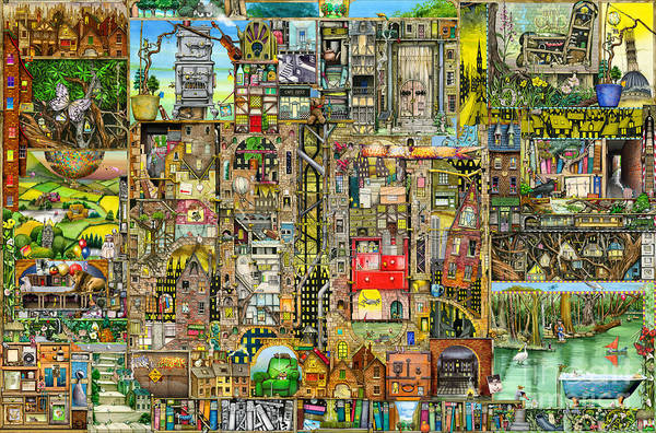Puzzle Digital Art - Our Town by MGL Meiklejohn Graphics Licensing