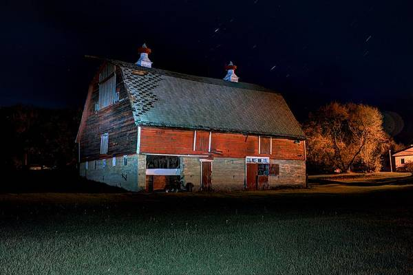 Photograph - Out Back Of The Barn by David Matthews