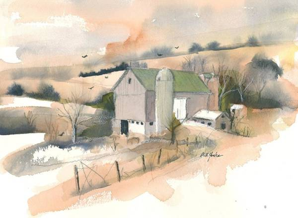 Garrett County Wall Art - Painting - Out Behind The Barn by Robert Yonke