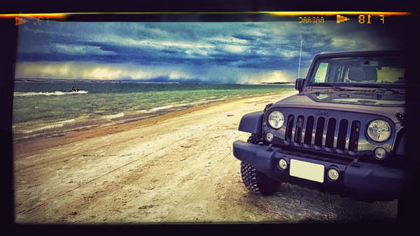 Jeep Wall Art - Photograph - Out For A Play by Adam Vance