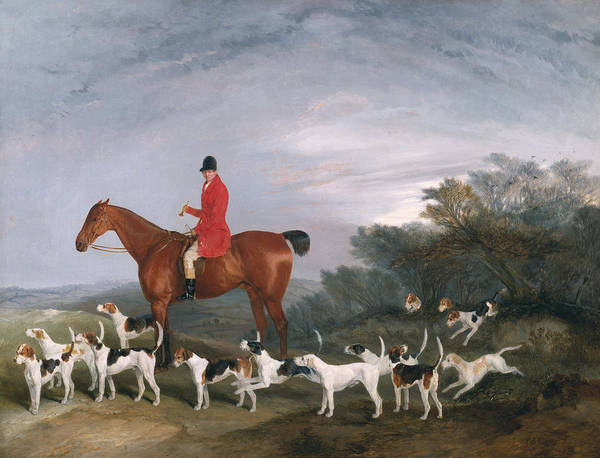 Reins Painting - Out Hunting by Richard Barrett Davis