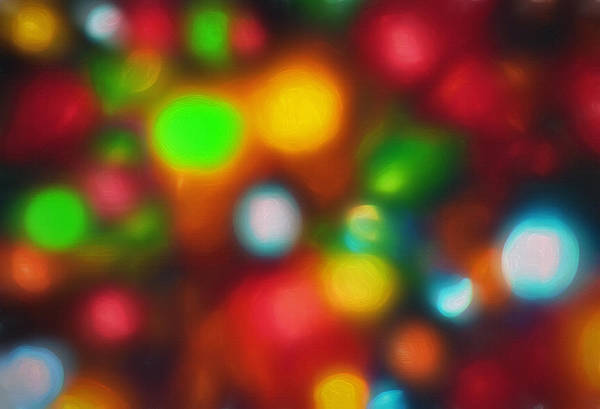 Christmas Season Wall Art - Photograph - Out Of Focus Christmas Lights 1 - Topaz by Steve Ohlsen