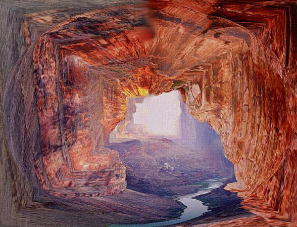 Valley Of Fire Painting - Out Of The Canyon by Dennis Buckman