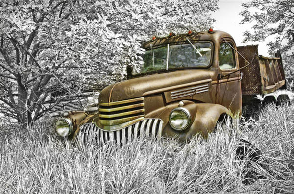Dump Truck Photograph - Out Of Work by John Anderson