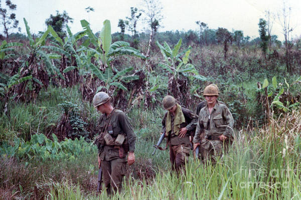Photograph - Out On Patrol 4th Infantry Division Central Highlands Of Vietnam 1968 by California Views Archives Mr Pat Hathaway Archives