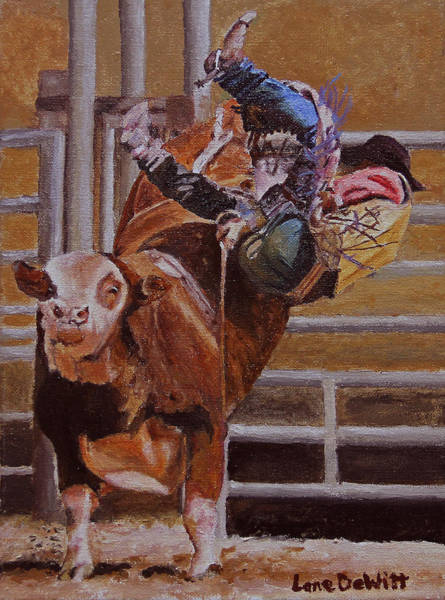Prca Wall Art - Painting - Out The Side Door by Lane DeWitt