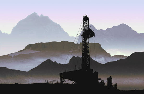 Bore Hole Wall Art - Digital Art - Out There Drilling by Daniel Hagerman