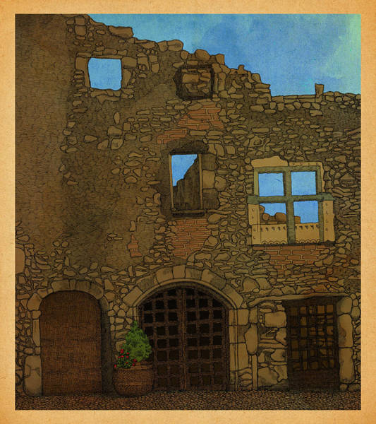 Alsace Wall Art - Drawing - Out There by Meg Shearer