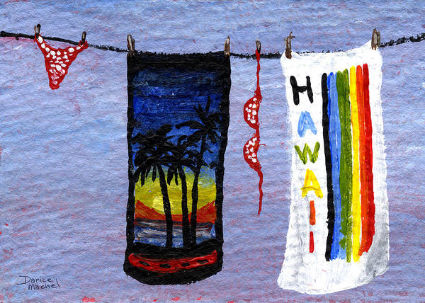 Pokes Wall Art - Painting - Out To Dry by Darice Machel McGuire