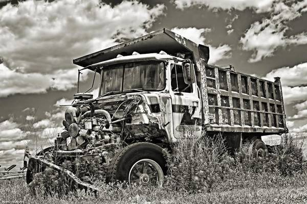 Dump Truck Photograph - Out To Pasture by Jarrod Unruh