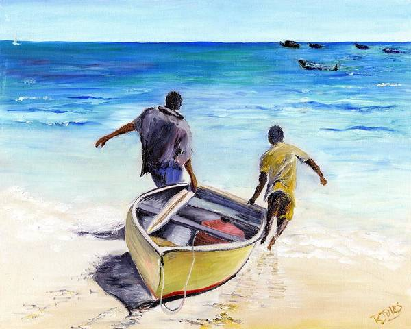 Painting - Out To Sea by Richard Jules
