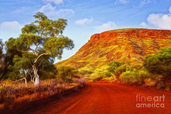 Dirt Roads Photograph - Outback Road Australia by Colin and Linda McKie
