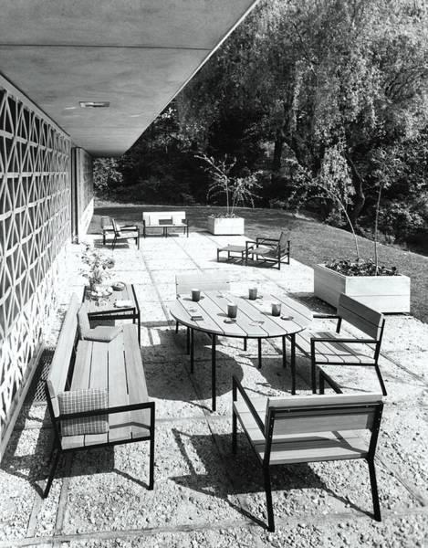 Patio Photograph - Outdoor Dining Area by Pedro E. Guerrero