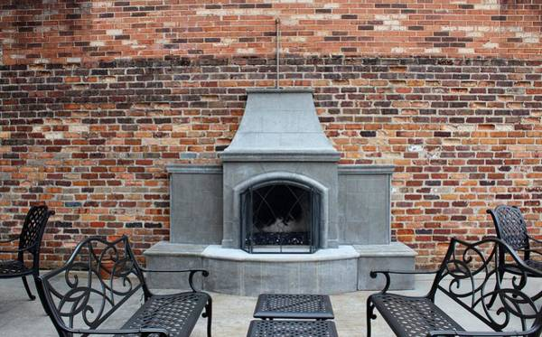 Photograph - Outdoor Patio With Fireplace by Cynthia Guinn