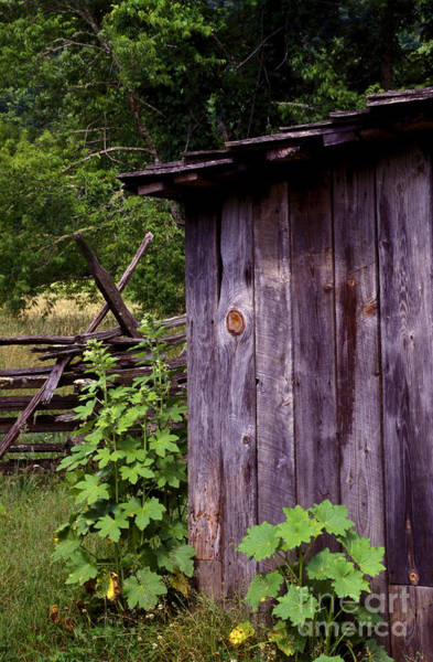 Photograph - Outdoor Plumbing - Outhouse by Paul W Faust -  Impressions of Light