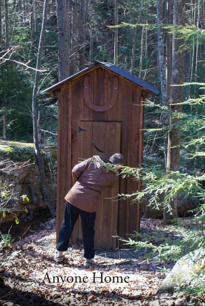 Toilet Photograph - Outdoor Privy Anyone Home by Douglas Barnett