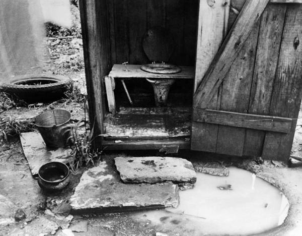 Photograph - Outdoor Toilet, 1935 by Granger
