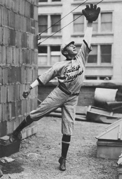 Difficult Photograph - Outfielder Challenges by Underwood Archives