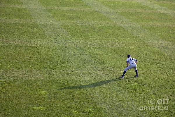 Photograph - Outfielder by Jim West