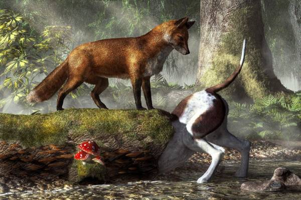 Reynard Wall Art - Digital Art - Outfoxed by Daniel Eskridge