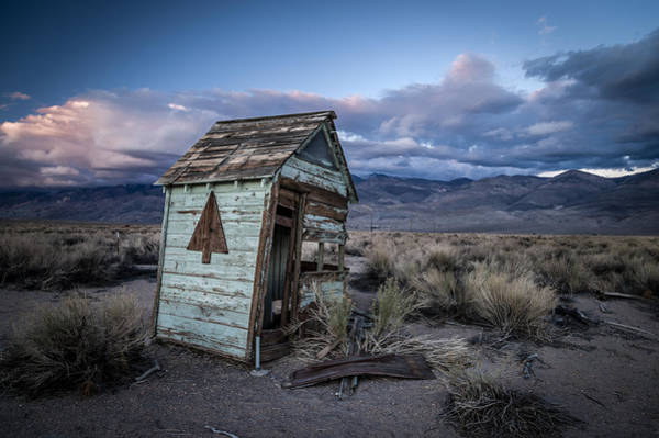 California Adventure Photograph - Outhouse by Cat Connor