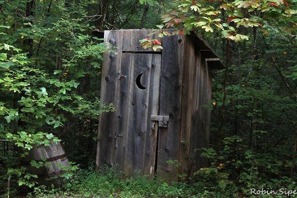Wall Art - Photograph - Outhouse Early Fall by Robin Vargo
