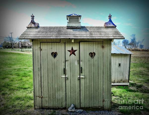 Water Closet Photograph - Outhouse - His And Hers by Paul Ward
