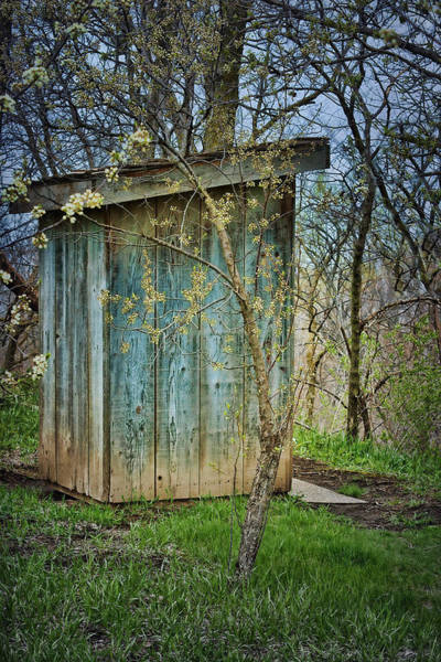 Nebraska Photograph - Outhouse In Spring by Nikolyn McDonald