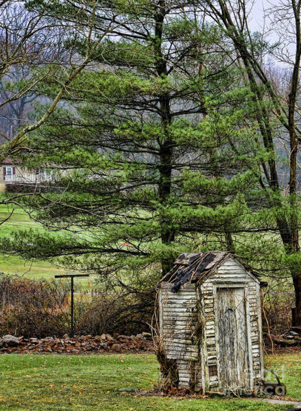 Water Closet Photograph - Outhouse In The Backyard by Paul Ward