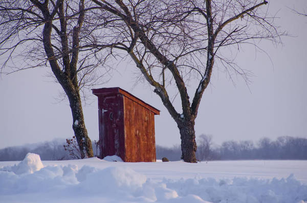 Privy Photograph - Outhouse In The Snow by Bill Cannon
