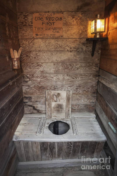 Photograph - Outhouse Interior by Bryan Mullennix