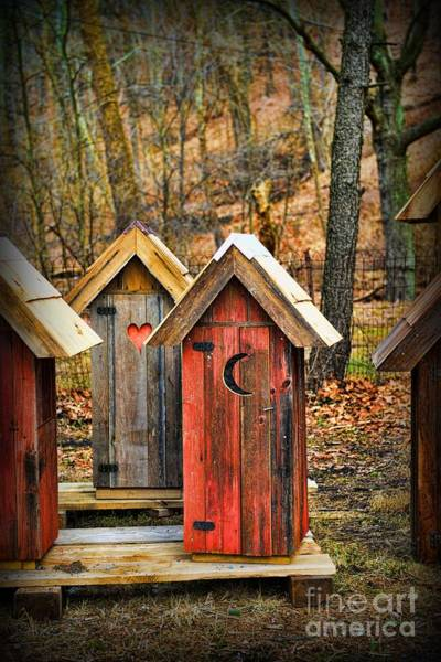 Water Closet Photograph - Outhouse It's Your Pick by Paul Ward
