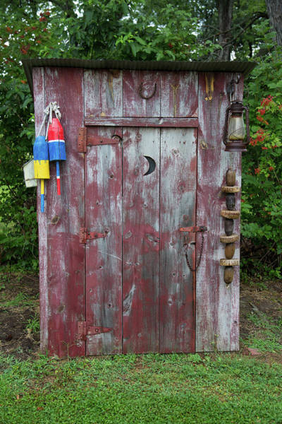 Outhouse Photograph - Outhouse Shed In A Garden, Marion by Panoramic Images