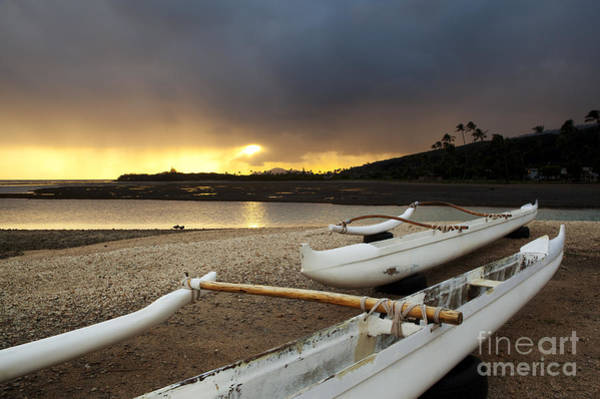Photograph - Outrigger Canoes by Charmian Vistaunet