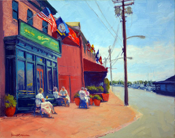 Oyster Bar Wall Art - Painting - Outside Mcgarvey's by Armand Cabrera