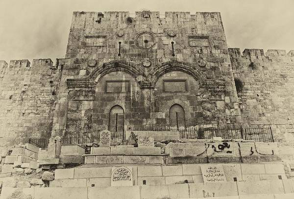 Photograph - Outside The Eastern Gate Old City Jerusalem by Mark Fuller