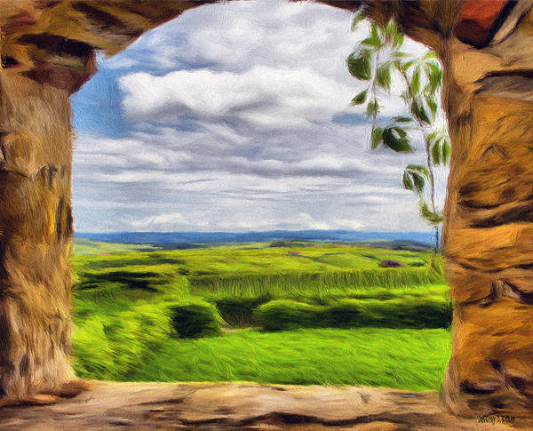 Wall Art - Painting - Outside The Fortress Wall by Jeffrey Kolker