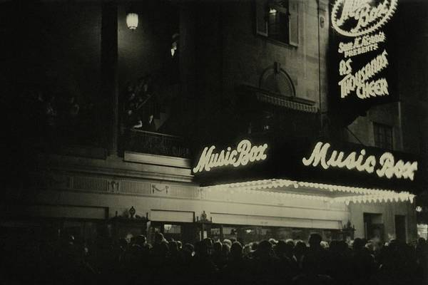 Illuminated Photograph - Outside The Music Box Theatre by Remie Lohse