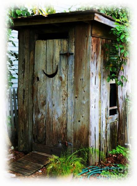 Outside Toilet Photograph - Outside The Outhouse by Mel Steinhauer