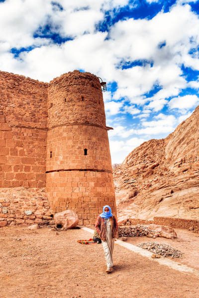 Photograph - Outside The Walls Of Historic Saint Catherine's Monastery - Egypt by Mark Tisdale