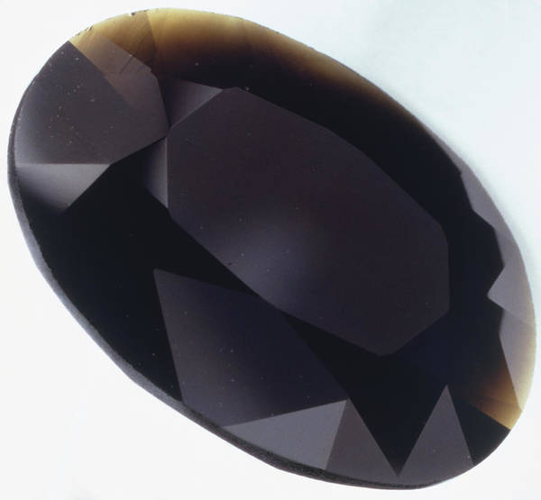 Glossy Photograph - Oval Brilliant-cut Tektite by Dorling Kindersley/uig