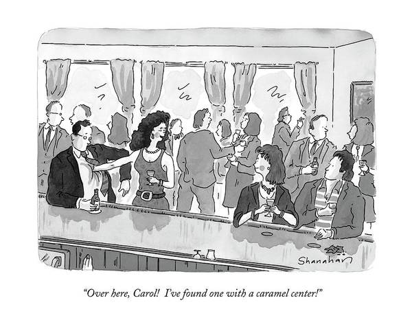 Parties Drawing - Over Here, Carol!  I've Found One With A Caramel by Danny Shanahan