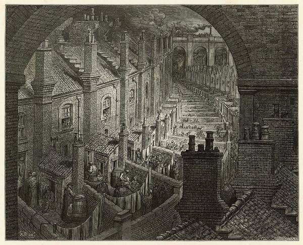 Wall Art - Drawing - 'over London By Rail' If Victorian by Mary Evans Picture Library