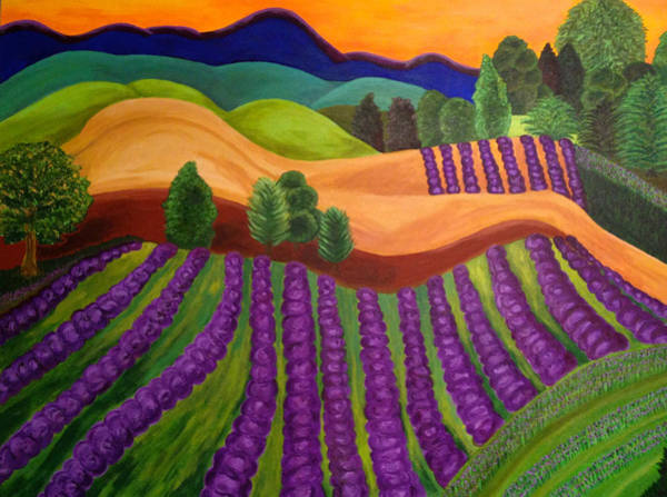 Wall Art - Painting - Over The Hills by Pennie DesJardins