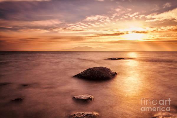 Ayrshire Photograph - Over The Sea To Arran by John Farnan