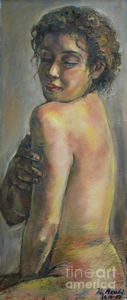 Painting - Over The Shoulder by Raija Merila