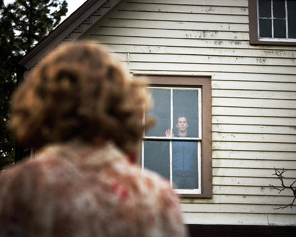 Dread Photograph - Over The Shoulder View Of A Man by Ron Koeberer