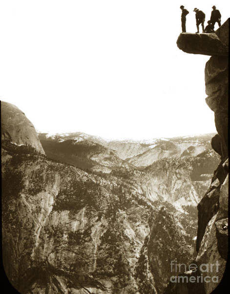 Photograph - Overhanging Rock Yosemite California By Joseph Leconte 1900 by California Views Archives Mr Pat Hathaway Archives