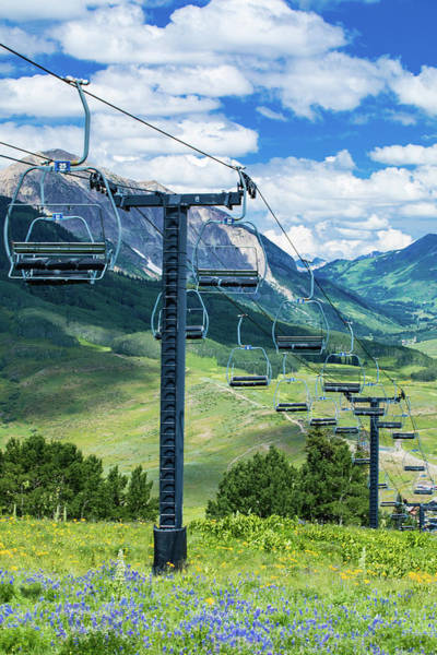 Steel Cable Wall Art - Photograph - Overhead Cable Cars, Crested Butte by Panoramic Images